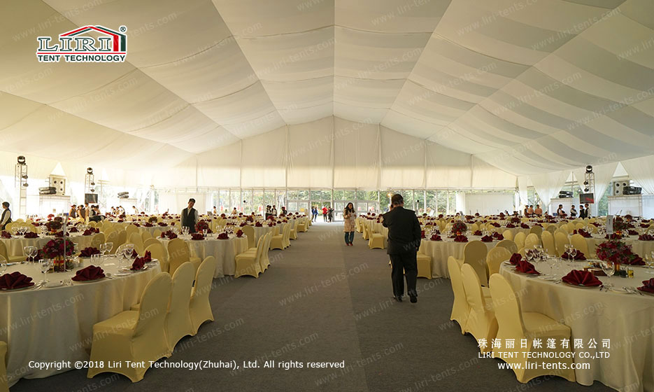Big White Party Tents indoor