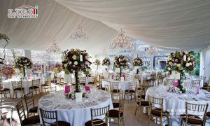 event chairs and tables for tents