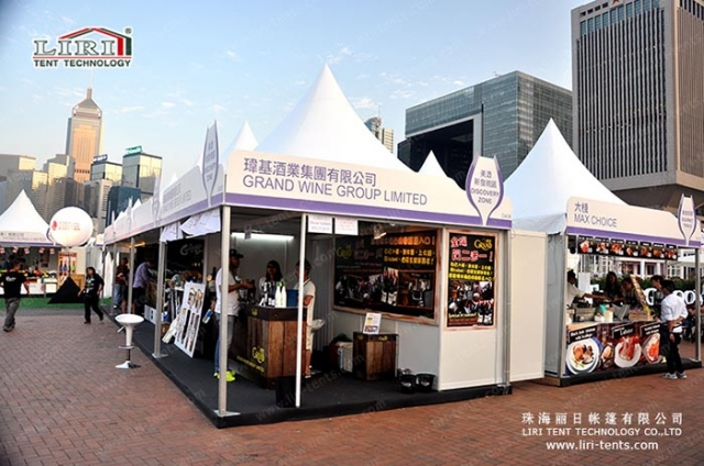 hong kong wine and dine festival tents