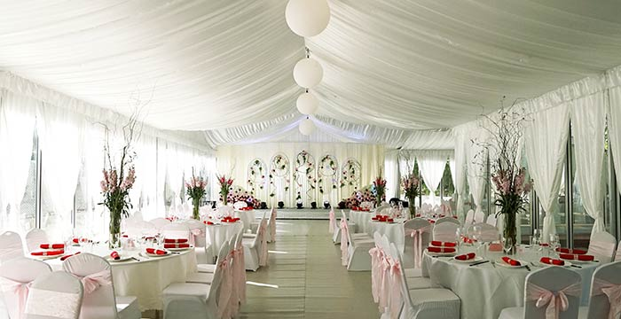 How To Decorate A Tent For A Wedding