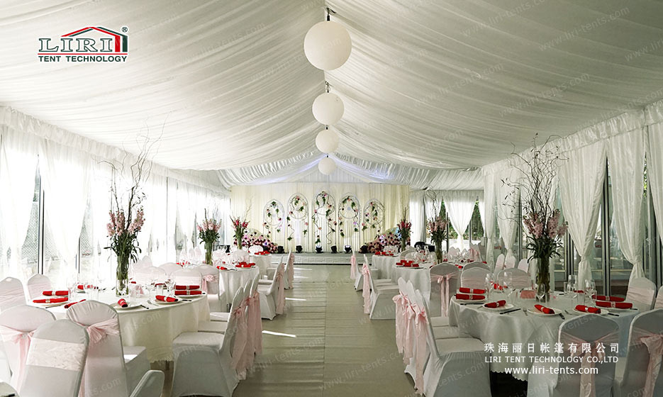 How to Decorate a Tent for a Wedding indoor