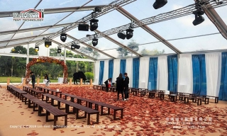Transparent tent indoor