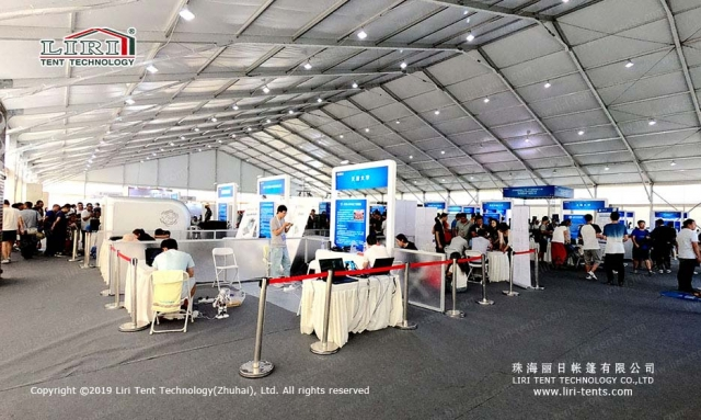 exhibition tent indoor