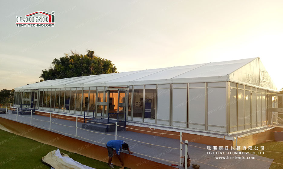 Large outdoors party tent