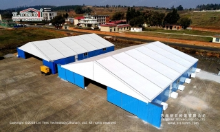 Custom warehouse tent