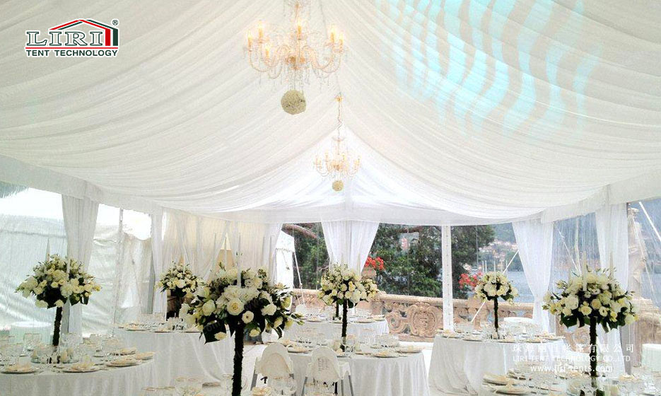 Party tents white lining