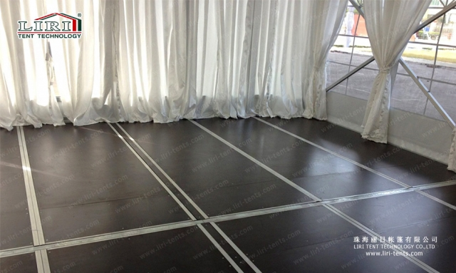 luxury party tents flooring