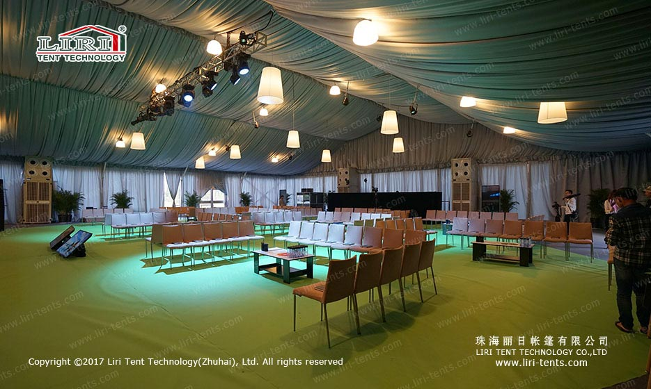 outdoor winter party tent indoor
